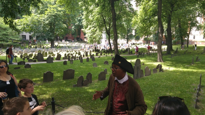 The Freedom Trail - a guided tour through the streets of Boston.
