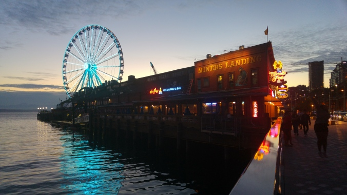 The harbour in Seattle.